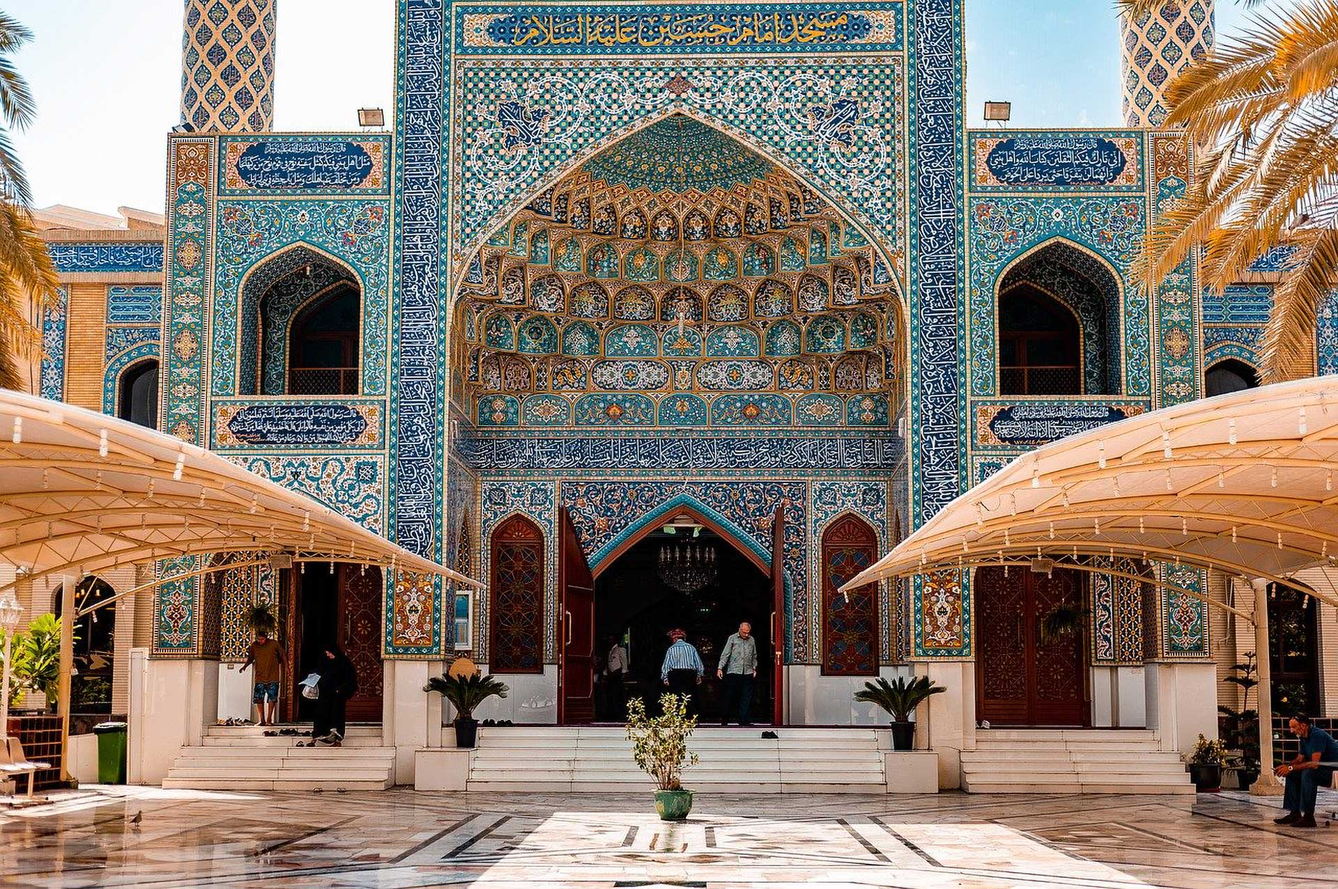 moroccan style Tiles mosque in Dubai