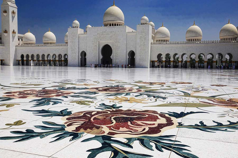 floor Islamic Tiles in Abu Dhabi mosque