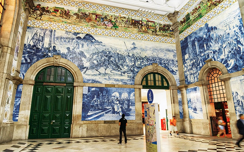 historical tile murals