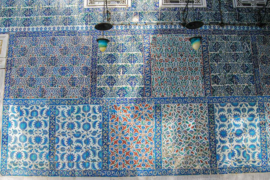 Sultan Mosque tiles in Istanbul
