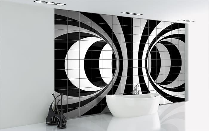 funky tiles for bathroom