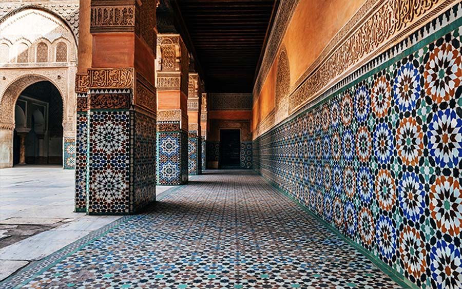 moroccan wall and floor pattern tiles
