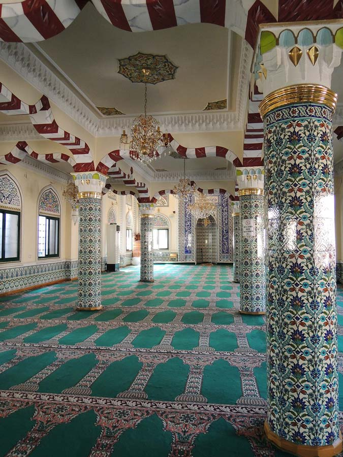 turkey islamic pattern tiles inside mosque
